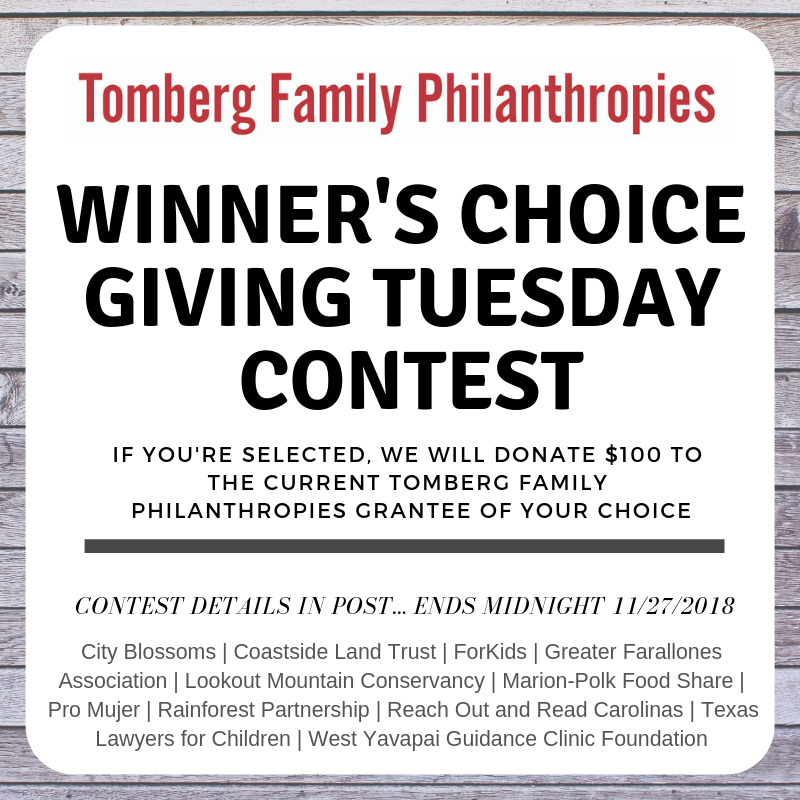 Winner's Choice Giving Tuesday Contest
