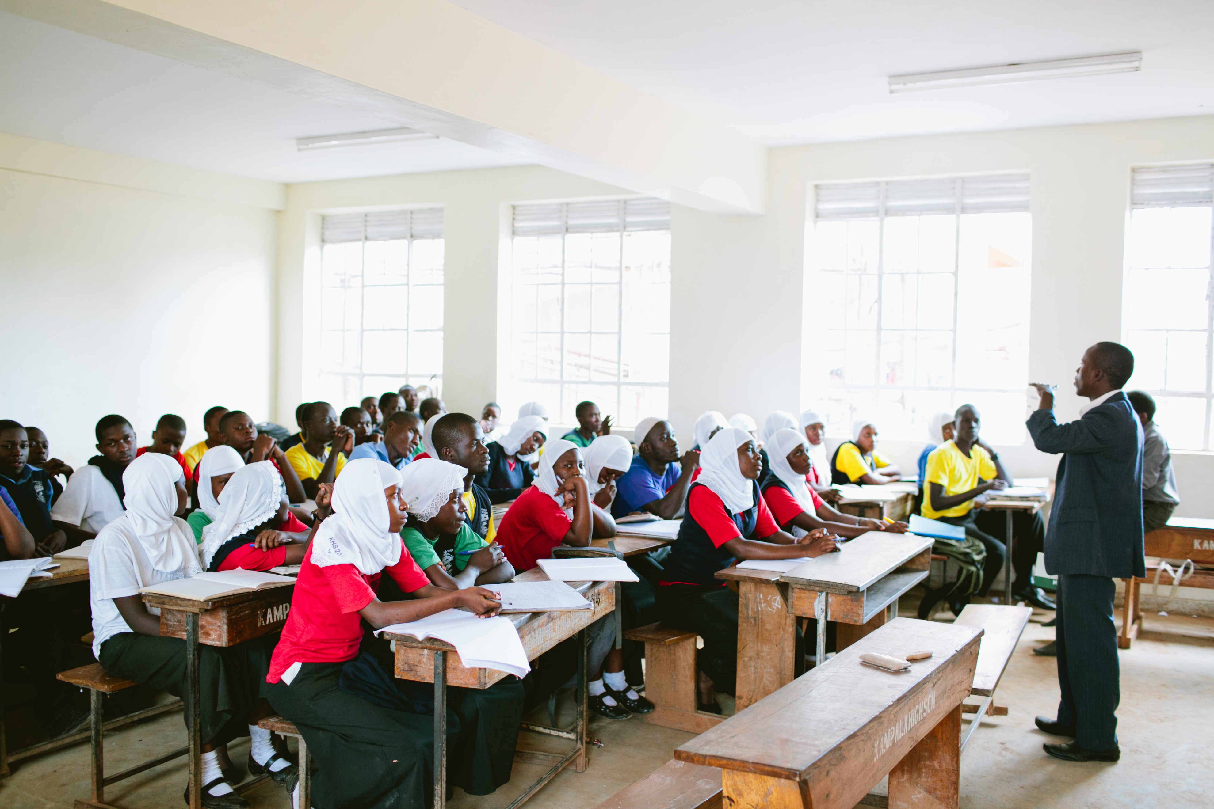 Educate! lesson at Kampala High School. Photo by Ashley Turner for Educate!