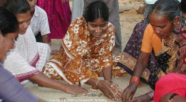 Microfinance Meeting in India. Copyright © 2004 by Charles M. Tomberg