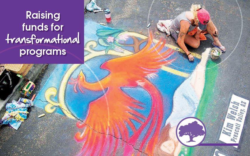 WYGC Foundation Chalk Art