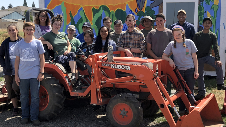 Youth farmers helped to grow 17,000 pounds of fresh vegetables for the community.
